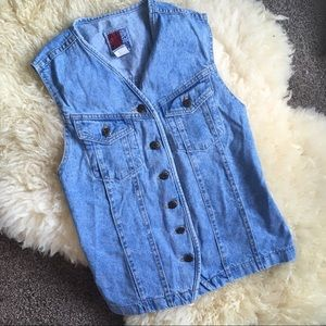 Vintage Light Wash Denim Vest